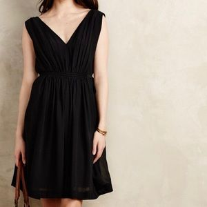 Anthropologie black lavana dress